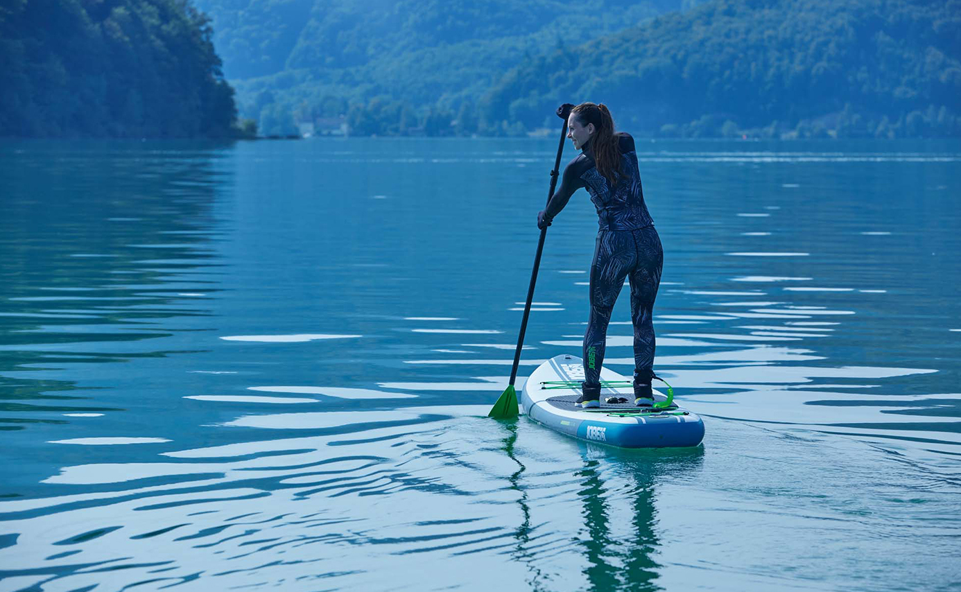 winter paddleboarding